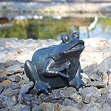 Wasserspeier Figur Frosch für Teich Wasser Speier Springbrunnen Teichfigur
