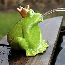 Wasserspeier Frosch grün mit Pumpe