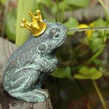 Wasserspeier Froschkönig Teichfigur aus Bronze