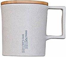 Wassertropfen-Becher/Deckel: Bambus/Korpus: