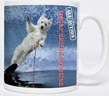 Water-Skiing Westies - Mugs - Becher – Chopes - West Highland Terrier