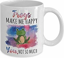 Watercolor Frog Coffee Mug Funny Toad Animal Lover