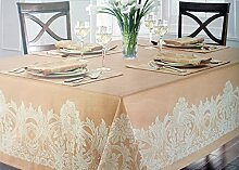 Waterford Linens Tischdecke, Stoff, Beige mit