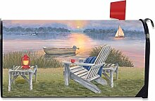 Waterfront Retreat Sommer Mailbox Bezug Adirondack
