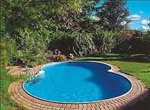 Waterman Exklusiv Stahlwandbecken Achtform Tiefe 150 cm 625 x 360 x 150 cm