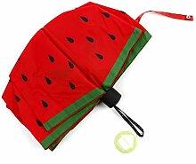 Watermelon Regenschirm Kreativ Ms Sonnenschutz Sonnenschirm Regenschirm Anti-UV Sonnenschirm Fold Folding Regenschirm