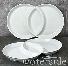 Waterside Fine China Servierset, Porzellan, weiß,