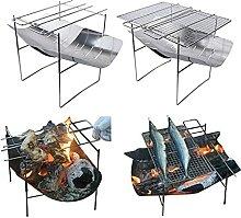 WATPET Brennholzträger Bonfire-Falten BBQ Grill