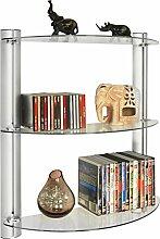 WATSONS CD/DVD Regal aus Glas mit 3 Etagen und