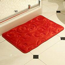 Wattebausch/Fußabtreter/Hall,Toilette,Die Tür,Toilette,Foot Pad/Saugfähigen Badezimmer Matte-E 40x60cm(16x24inch)