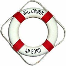 wattkiste Deko-Rettungsring rot/weiss, 50 cm Willkommen an Bord