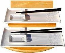 Wave & Star Sushi-Set für 2 Personen, Weiß