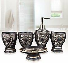 WAWZJ Badezimmer Set Fünf Stück Bad Bad Liefert, Wash Setzen
