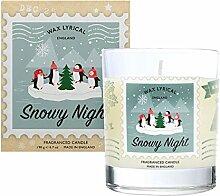 Wax LYRICAL Kerze #w/f Glas Snowy Night