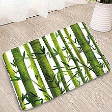 WAXB Fußabtreter Grüne Bambus Landschaft