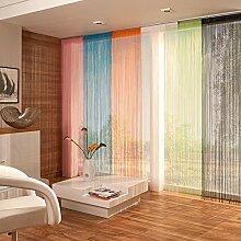 way2way Fadenvorhang | schwarz 60 x 245cm | Schiebevorhang | Flächenvorhang | viele Farben