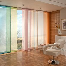 way2way Flächenvorhang | hellblau 60 x 245cm | Schiebevorhang | transparenter, leicher Voile | viele Farben