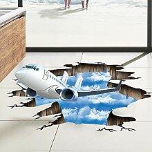 WAYDQT Große 3D Blauer Himmel Wand Boden