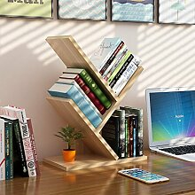 WAYER Zeitungsständer holz, Desktop-speicher-rack Bücher stand Kreative baum racks Einfache Haushaltswaren Bürobedarf-Holzfarbe 31x17x40.5cm(12x7x16inch)
