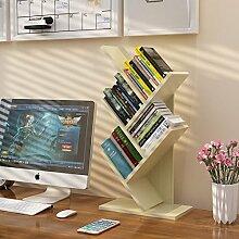 WAYER Zeitungsständer Holz, Desktop-Speicher-Rack
