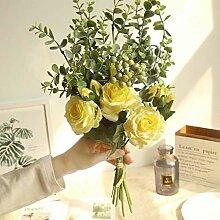 Waymeduo Brautstrauß für Hochzeitsfeier Bouquet