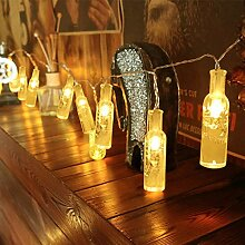 WAYNEWON LED Weinflaschen Lichterkette,