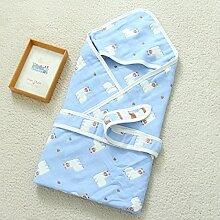WAZY Baby Decke Baby Schlafsack 6 Schichten Gaze