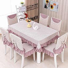 WAZY Familie Tischdecke Küche Wohnzimmer Tischdekoration Stoffe Platz Tischdecke (Farbe : Braun, größe : 51.2*70.9inch)