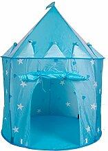 WAZY Kinderzelt Prinzessin Schloss Spielzelt,Blue
