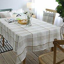 WAZY Moderne Baumwolle und Leinen Esstisch