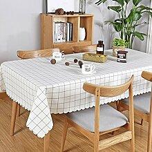 WAZY PVC Plaid rechteckige Tischdecke Tisch decken rustikalen Stil abwischen Fleck-beständig wasserdicht für Tee Tisch Cafe (53,1 * 74,8 Zoll) (größe : B)