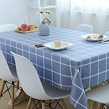 WAZY PVC Vinyl rechteckige Tischdecke abwischen sauber Fleck-beständig staubdicht wasserdicht Öl-Tischschutz für Esstische Küche Hotel Restaurant (Farbe : C)