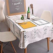 WAZY Tischdecke Nordeuropa Stil Mehrzweck