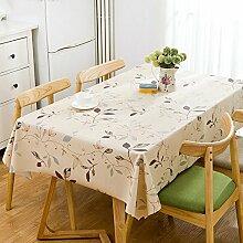 WAZY Tischdecke Restaurant Platz Couchtisch Matte Wasserdicht Ölbeständig PVC Polyester Tischdecke (Farbe : 5, größe : 53.9*78.7inch)