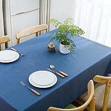 WAZY Tischdecke Restaurant Platz Couchtisch Matte Wasserdicht Ölbeständig PVC Polyester Tischdecke (Farbe : 7, größe : 53.9*78.7inch)