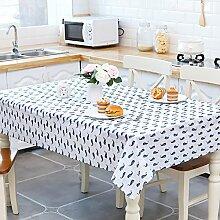 WAZY Tischdecke Restaurant Tischdecke Couchtisch Abdeckung Matte PEVA Wasserdicht Und Ölbeständig Einfach zu Reinigen (Größe: 130 * 140 cm, 130 * 180 cm) (Farbe : A, größe : 51.2*55.1inch)