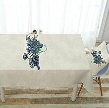 WAZY Tischdecke Square Esstisch Tuch pastoralen Druck wasserdichte Tischdecke (Farbe : I, größe : 43.3*66.9inch)
