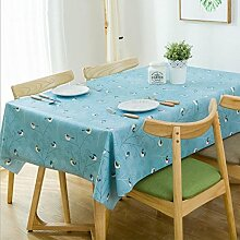 WAZY Tischdecke Tischtuch wasserdicht Rechteck
