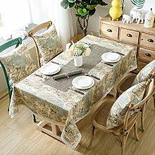 WAZY Tischtuch Tischdecke mit Tischläufer