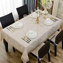 WAZY Tischtuch Tischdecke Stoff Tee Tischdecke Tuch rechteckige Tischdecke blau Home Decor Tisch Western Restaurant (Farbe : Pink, größe : 140*200cm)