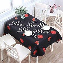 WAZY Tischtuch Tischdecke Tuch Läufer Tee Tischdecke Baumwolle Stoff Tuch Tisch Schreibtisch Cartoon Rost Staub tragbare Familie Tischdecke Home Decor (Farbe : I, größe : 110*110cm (43.3*43.3in))