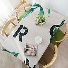 WAZY Tischtuch Tischdecke Tuch Läufer Tee Tischdecke verdicken Baumwolle Leinen Restaurant Kaffee Tischdecke Hause Familie Tischdecken Küche Tischdecken nach Hause ( Farbe : K , größe : 140*180cm (55.1*70.9in) )