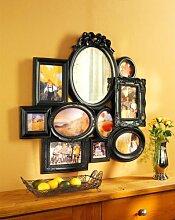 wb Bilderrahmen Collage mit Spiegel für 9 Bilder