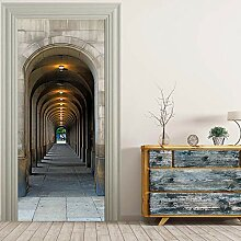 Wbaini Selbstklebende Türaufkleber Korridor