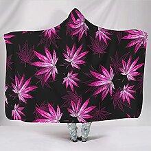 wbinshey Kapuzendecke Cannabis Blatt Pflanze weich