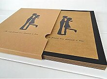 Wbxtt Handwerk Schwarzpapier DIY Fotoalbum Liebe