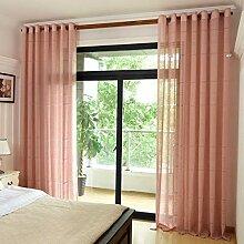 WBXZAL-Vorhänge Cotton Linen Stil dicken Vorhang