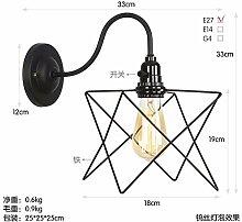 WBXZAL-Wandlampe amerikanische nordischen