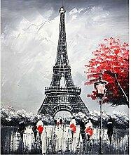 Wc-asdcc Eiffelturm Bild 3D DIY Diamant Malerei