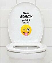 WC Aufkleber - DEIN ARSCH GEHÖRT MIR - Smiley